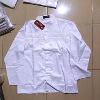 Baju koko remaja SMP putih panjang ukuran S (besar)