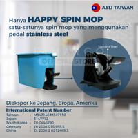 HAPPY SPIN MOP alat pel kualitas tinggi dengan Gir Metal stainless