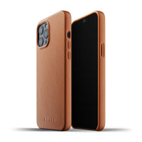 Mujjo Full Leather Case for iPhone 12 Pro Max Casing Premium Apple - Tan