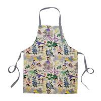 Apron / Celemek Secret Garden Kamalika Artprints - Krem