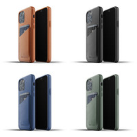 Mujjo Full Leather Wallet Case for iPhone 12 & 12 Pro Casing Apple