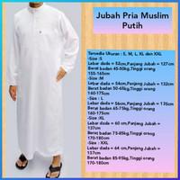 baju muslim jubah gamis pria galabiyya jubbas kurta polos thobes putih