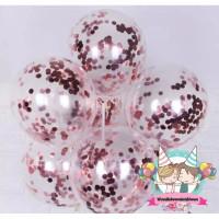 Windblown Balloon Latex Confetti / Balon Lateks Isian - Rosy Pink