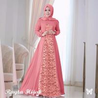 Baju Gamis Wanita / Gamis Brukat / Busana Long Dress Muslim Rayta