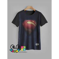 kaos anak super hero baju anak superman v1 - 1-2 tahun