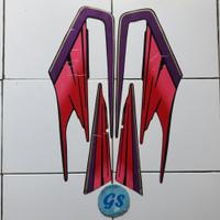 stiker striping motor Rx King 1995 merah