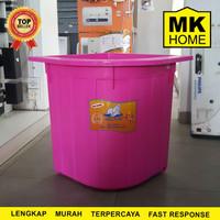 Bak Air Walrus Sudut Kamar Mandi Pink 120L