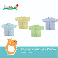 Baju Bayi Newborn Rumput Warna (2 Pcs)