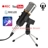 Microphone-Mic Condenser Streaming podcast Zoom Smule3.5mm with Tripod