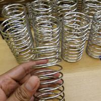 Per tekan pegas Stainless kawat 4mm diameter dalam 30mm panjang 150mm