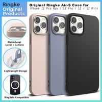Original Ringke Air S Case iPhone 12 Pro Max Pro 12 Mini Soft Casing - 12 Pro Max, Black