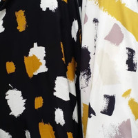 kain bahan baju meteran katun rayon motif abstrak y241