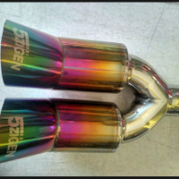knalpot mobil 5zigen rainbow untuk segala jenis mobil