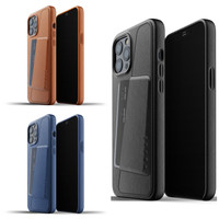 Mujjo Full Leather Wallet Case for iPhone 12 Pro Max Casing Apple