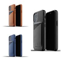 Mujjo Full Leather Wallet Case for iPhone 12 Mini Casing Premium Apple