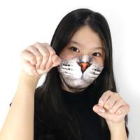 Masker Kain Unik Tahan Percikan Air Kucing Meong Catgirl