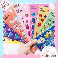 Soft Sticker Timbul BT21 BTS Aksesoris Kpop Souvenir Lucu Cute HB068