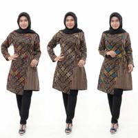 Tunik batik wanita model terbaru murah jumbo