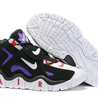 Sepatu Nike air jordan unggu putih logo merah