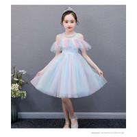 Baju Dress Pesta Ulang Tahun Princess Tutu Colorful Sparkle Sabrina