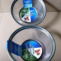 saringan ayakan tirisan stainless 22 cm / Saringan Mangkok Stainless