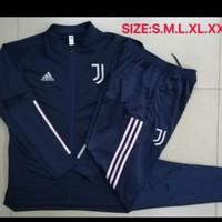 setelan jaket +celana training Juve