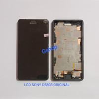 LCD SONY EXPERIA Z3 COMPACT D5803 FULLSET FRAME + TOUCHSCREEN ORIGINAL