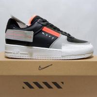 SEPATU TERJANGKAU Nike air force 1 n 354 black grey orange
