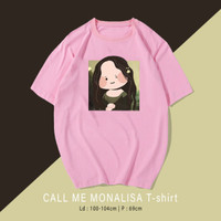 Monalisa T-shirt Kaos Santai Wanita / Pria Unisex fit To XL Oversize