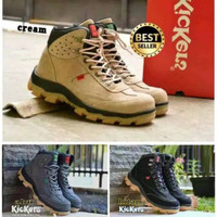 sepatu boots sefty pria Kickers rembo Suede shoes