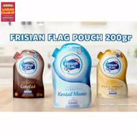 Susu Kental Manis Pouch Coklat - Putih - Gold -Frisian Flag - 200ml