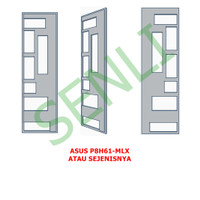 CPU Motherboard Backplate IO Panel Shield ASUS P8H61-MLX