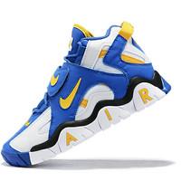 sepatu branded nike air jordan putih biru logo kuning