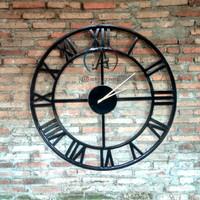 jam dinding besar industrial powder coating/jam dinding hidup besi