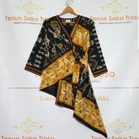 baju tenun tunik kimono sumba ntt kuning full furing TK01
