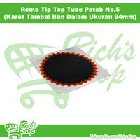 Karet Tambal Rema Tip Top Ban Dalam No 5 Ukuran 94mm Per Pcs
