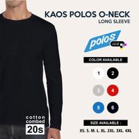 Kaos Polos Lengan Panjang Super Cotton 20s Unisex
