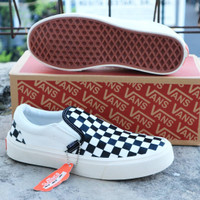 sepatu slip on vans catur checkerboard