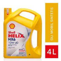 Oli shell helix hx6 Oli shell hx6 sae 10w-40 4 Liter Original