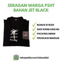 Baju Silat Sakral Warga PSHT SH Terate Bahan JET BLACK ORI
