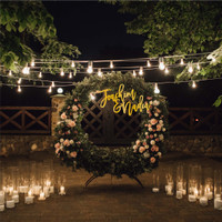 Couple Name Plaque | Dekorasi Lamaran Pernikahan Wedding Nama Backdrop