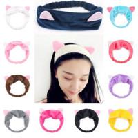 Bandana/ Bando/Hair band Telinga Kucing Korea Lucu - pink tua