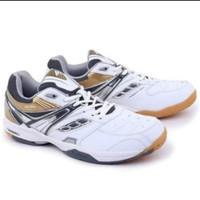 GRE 7756 PUTIH KOM Sepatu Olahraga Badminton Pria Cowok GARSEL SHOES