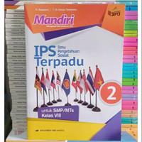 Buku Mandiri Ips Terpadu Kelas 2 / VIII 8 Smp K13N Erlangga