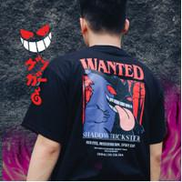 Baju Kaos Anime Pokemon - Kuruu Merch Gengar T Shirt