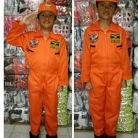 baju kostum pilot tempur anak profesi