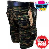 Celana Pendek Cargo Loreng Army Murah Berkualitas /Celana Tentara Army