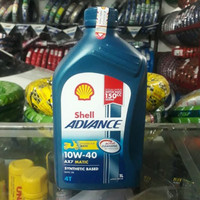 Oli shell advance ax7 Oli shell ax7 matic sae 10w-40 1 Liter Original