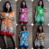 Setelan Daster Afisa Set Baju Tidur Celana Pendek Batik Wanita All Siz