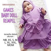 fashion baju muslim gamis anak syari Jersey baby doll rempel terbaru
